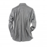 Classic Shirt in Grey Brushed Cotton