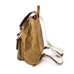 Explora Rucksack in Sand Waxed Cotton