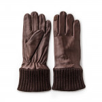 RH Silk Lined Leather Shooting Gloves in Mink