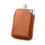 5.5oz Hip flask in Dark Tan