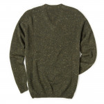 Rora Cashmere V neck Sweater - Loden