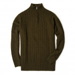 Cashmere Cannock Cable  in Field Green