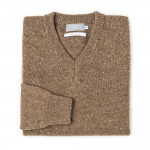 Rora Cashmere V neck Sweater - Foal