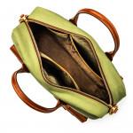 Bournbrook Briefcase in Safari Green & Mid Tan