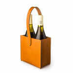 Leather Carrier for 2 Bottles