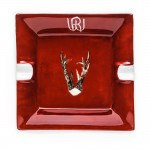 Porcelain Ashtray With Hand Painted Roebuck Antlers-Design 2