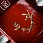 Porcelain Ashtray With Hand Painted Stag Antlers- Design 1