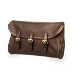 Redfern Cleaning Pouch with Accessories in Dark Tan