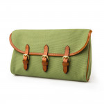 Redfern Cleaning Pouch in Safari Green & Mid Tan