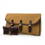 Redfern Cleaning Pouch in Sand  & Dark Tan