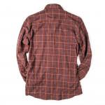 Men's Fine Cotton Shirt - Rust Red Check