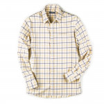 Men's Deluxe Tattersall Shirt in Blue/ Yellow/ Brown