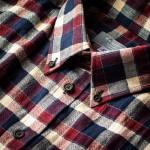 Men's Fine Cotton Shirt in Wine & Navy Check