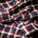 Men's Fine Cotton Shirt - Wine & Navy Check