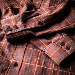 Men's Fine Cotton Shirt in Rust Red Check
