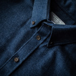 Men's Fine Cotton Shirt in Indigo