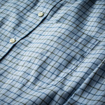 Men's Deluxe Tattersall Shirt in Blue with Green