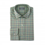 Tattersall Shirt in Blue/ Lilac