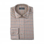 Tattersall Shirt in Navy/Wine