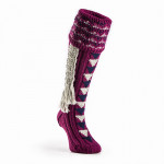 Westley Richards Whitfield Shooting Sock in Plum and Grey