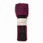 Whitfield Shooting Sock in Plum and Charcoal