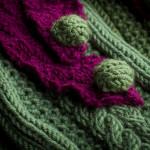 Vaynor Shooting Sock in Leaf & Purple