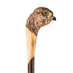 Hand Carved Kestrel Walking Stick