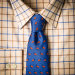 Silk Partridge Tie in Niagara Blue