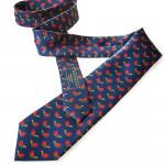 Silk Mallard Tie in Indigo