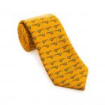 Silk Pheasant tie in Seville Mustard