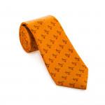 Silk Grouse tie in Honey Gold Orange