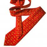 Silk Pheasant tie in Tulip Red