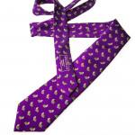 Silk Partridge Tie in Palace Purple