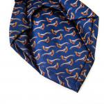 Silk Pheasant tie in Light Navy
