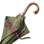 Striped Umbrella with Knotted Chestnut Handle