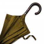 Herringbone Umbrella with Maple Handle