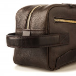 Bournbrook Wash Bag in Dark Tan