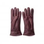Ladies Leather Shooting Gloves in Burgundy