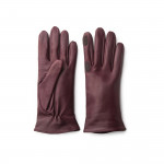 Ladies Leather Shooting Gloves in Burgundy