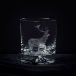 Hand Engraved Crystal Glass - Stag