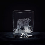 Hand Engraved Crystal Glass - Buffalo