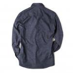 Men's Fine Cotton Shirt in Blue Marl