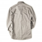 Men's Fine Cotton Shirt in Dove Grey