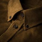 Men's Fine Corduroy Shirt in Light Brown