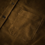 Men's Fine Corduroy Shirt in Light Brown