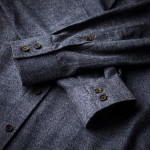 Men's Fine Cotton Shirt in Blue Marl
