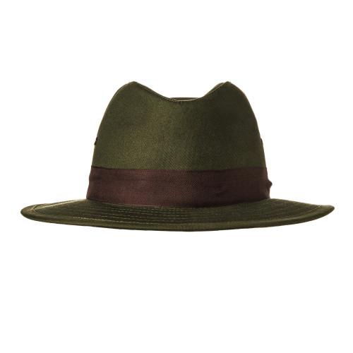 Hunting Hat with Brown Herringbone Band